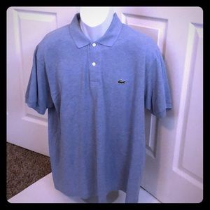 Lacoste polo 👕 blue shirt 7 ya xxL